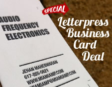 Letterpress Business Card Deal